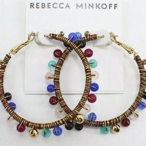 REBECCA MINKOFF MOROCCO HOOP EARRINGS